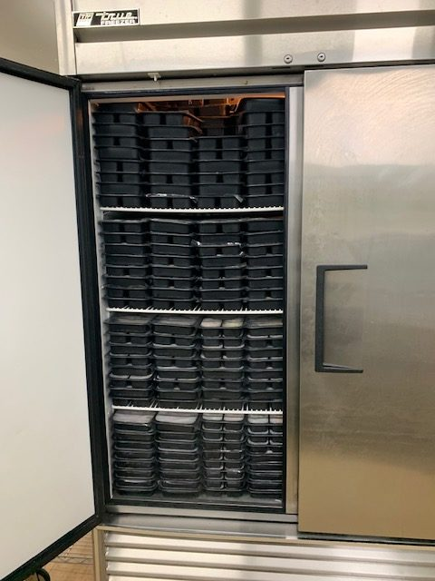 Frozen meals ready to go